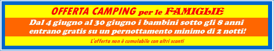 offeta camping famiglie